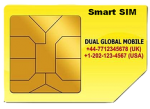 Dual Global Mobile - World Free Roaming Travel Smart SIM